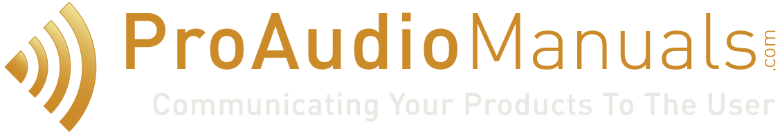 ProAudioManuals – Technical Documentation & Marketing Services For The Pro Audio Business